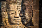 Enigmatic Faces of Bayon, Cambodia — Stock Photo