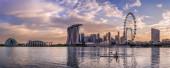 Panorama of Singapore with Kayak — Stock Photo