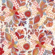 Seamless pattern with flowers and butterflies in white background — Stock Vector #66063813