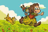 Little Friends outdoor — Stockvektor
