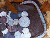 Old purse — Stock Photo