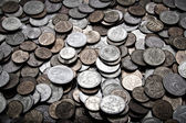 Useless coins — Stock Photo