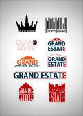 Grand estate logo, real estate agency logo — Stock Vector