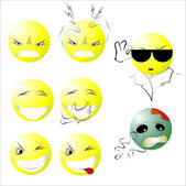Different emotions — Stock Vector