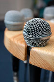 Microphone on a stand — Stock Photo