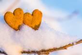 Gingerbread hearts — Stock Photo