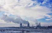 Zanieczyszczenia w zakładzie energii — Zdjęcie stockowe