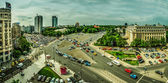 Bucharest Aerial View -- Victory Square — Stock Photo