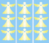 Angels on blue background — Vetorial Stock
