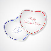 Valentine's Day, paper hearts — Vecteur