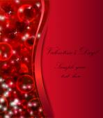 Valentines background with red hearts — Stock Vector