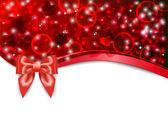 赤いハートのバレンタイン ポストカード — ストックベクタ
