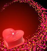 Gift box shaped heart — ストックベクタ