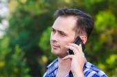 The man with the phone — Stock Photo