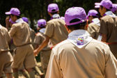 Chonburi, Thailand - April 4: unidentified Thai Scout in 20th THAILAND NATIONAL SCOUT JAMBOREE as part of the study on April 4,2015 in Vajiravudh Scout Camp, Chonburi, Thailand. — Stockfoto