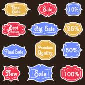 Set of retro labels — Stock Vector