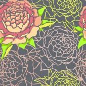 Flowers wallpaper. — Stock Vector