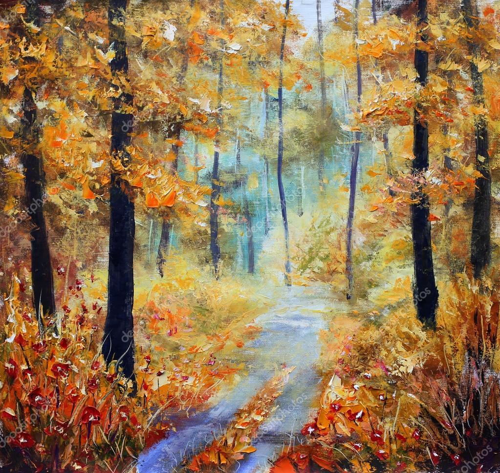 Картинки в лесу осеннем