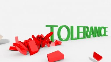 Mano che abbatte l'intolleranza — Stock video