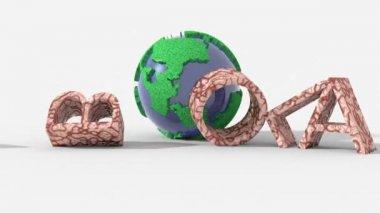 La forza del pianeta elimina il virus ebola, concetto di guarigione — Stock Video