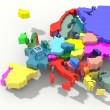 Europe Map 3D color relief — Stok fotoğraf #63797937