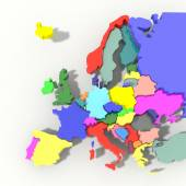 Europe Map 3D color relief — Stock Photo
