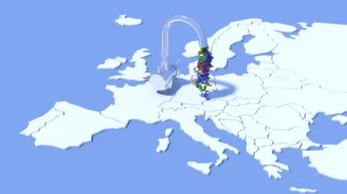 Concept of supply of euro from the European Central Bank — Stock Video