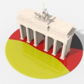 Brandenburg Gate 3D design with colors Germany — Stock Photo
