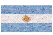 3D objects with colors flag Argentina — Stock Photo
