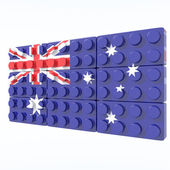 3D objects with colors flag Australia — Stock Photo