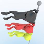 3D objects with colors flag Germany — Stock Photo