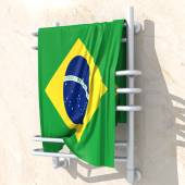 3D objects with colors flag Brazil — Стоковое фото