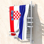 3D objects with colors flag Croatia — Stock Photo