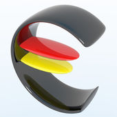 EUR colors Germany — Stock Photo