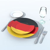 3D objects with Germany flag colors — Stock Photo