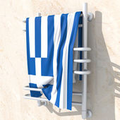 3D objects with colors flag Greece — Stock Photo