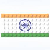 3D objects with colors flag India — Foto de Stock