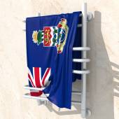 3D objects with colors flag Cayman Islands — Stock Photo