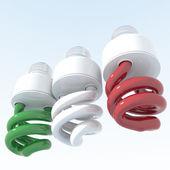 Oggetti 3d con l'Italia bandiera colori — Foto Stock