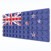 3D objects with colors flag New Zealand — Stockfoto