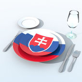 3D objects with colors flag Slovakia — Stock Photo