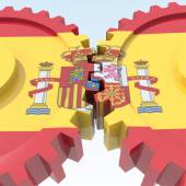 3D objects with colors flag Spain — Stock Photo
