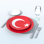 3D objects with Turkey flag colors — ストック写真