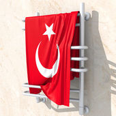 3D objects with Turkey flag colors — Stock Photo