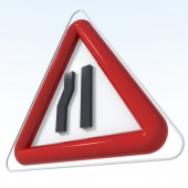 Road signs with various indications — Stock Photo