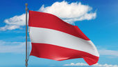 Austria flag in the wind — Stock Photo