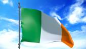 Ireland flag in the wind — Stock Photo