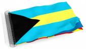 Flag with spiral Bahamas — Stock Photo