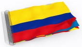 Flag with spiral Colombia — 图库照片