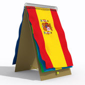 Flag with spiral Spain — Stock Photo
